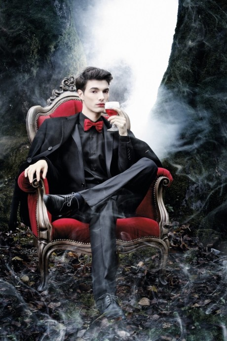 editorijal vampira, modeli zvonimir franic, marko i melita fabecic, dvorac bezanec,17102012 photo boris stajduhar