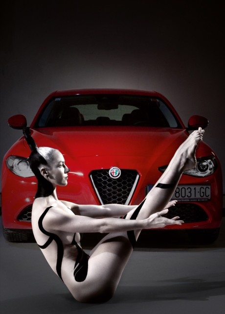alfa romeo giulia model iva richermonc, make up lisa jericevich,zagreb jadran film 08012017 photo boris stajduhar